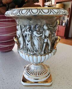 Vintage Retro 60s CAPODIMONTE Italian Baroque Urn Vase