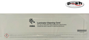 5 Laminator Cleaning Card for use on Zebra ZXP Series Retransfer Card Printers