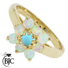 Anelli di lusso naturali oro gialli opale