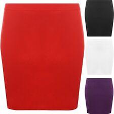 femme simple extensible Mini Jupe fourreau crayon MICRO Tissu Ponte court 8 -14