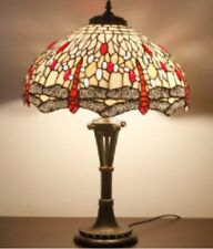 Tiffany Style Table Lamp Stained Glass Handcrafted Desk Light Shade Lamps 18inch