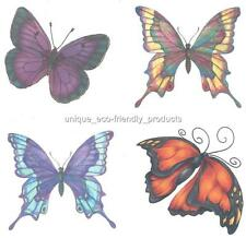 LOT 4 BUTTERFLY VERY BEAUTIFUL Temporary Tattoo see description for size