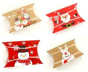 12 Christmas Pillow Wedding Favour Boxes Christmas Sweet Money Boxes
