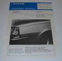Einbauanleitung Volvo 340 343 360 Zierstreifen Bande Decor Dekor Stripe 07/1982!
