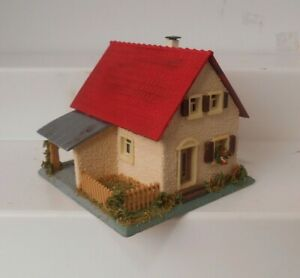 Vintage Faller HO 00 208 House With Balcony Composition Stucco Putz