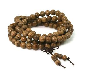 Men BRACELET or Necklace - Black Wood Beads Buda by Patricia Adelson
