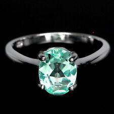 Paraiba Tourmaline Ring Wedding 2.08 Ct. Mozambique Silver Sterling