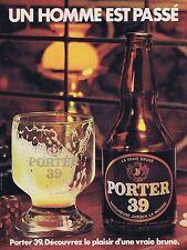 PUBLICITE ADVERTISING 114 1979 PORTER 39 Bière brune