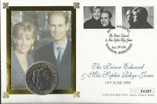 GB 1999 ROYAL WEDDING FIVE POUNDS COIN COVER 04307