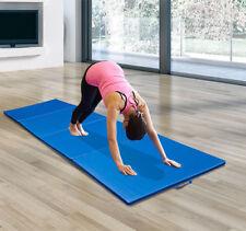 10'×4'×2'' Folding PU Leather Gym Exercise Mat 4 Panel Yoga Pad Aerobics Fitness