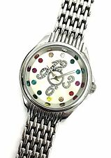 Stainless Steel Multi Color Crystal Dial Dress Analog Women's Watch