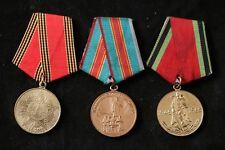 Soviet Medal Lot Set Umalatova 1500 Kiev 60 20 Victory Veteran WW2 Communist