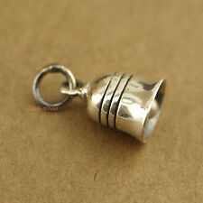 1x 925 Sterling Silver Retro Simple Bell Charm Pendant - no chain A2133
