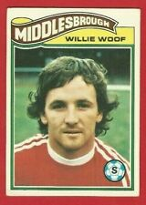 TOPPS FOOTBALLERS 1978 - ORANGE BACK TRADE CARD 354 - WILLIAM WOOF  (OK03)
