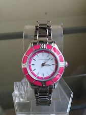 newstuffdaily: NIB ANNE KLEIN Pink Bezel & Silver Tone Case/Band Ladies Watch