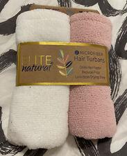 New * Elite Natural Microfiber Hair Towel Wrap - Pack of 2