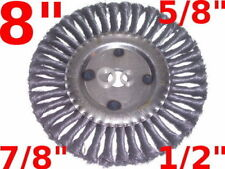"""8"""" Knot Wire Wheel Brush bench angle grinder 7/8 to 1/2"""
