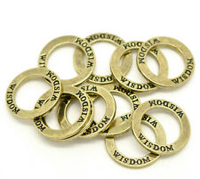 "5 x 23mm Antique Bronze Zinc Alloy "" Wisdom "" Ring Circle Steampunk Pendant R46"