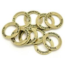 "5 x 23mm Antique Bronze Zinc Alloy "" Wisdom "" Ring Circle Steampunk Pendant R46"