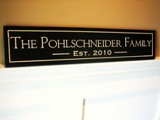 Personalized Family Name Sign Plaque Carved 5x24