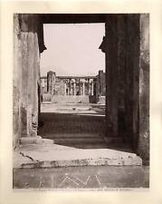 Italie, Pompei, Entrata della Casa del Fauno Vintage albumen print.  Tirage al