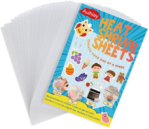 Auihiay 20 Pieces Sanded Shrink Plastic Sheets, Shrink Films Papers for Kids x /