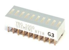 Siemens YBG-1000 LED 10-Element Bar Graph Display Yellow / Balkenanzeige Gelb