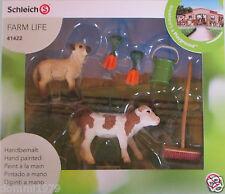 Schleich Farm Life 41422 Stallpflege mit Kalb und Schäfchen neu OVP