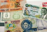 Lot of 5 Caribbean Islands Notes VF - UNC Condition 1982 - 2008