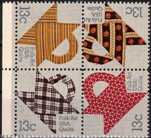 USA 1978 Sc1745-8B MNH 1 block American Folk Art Series
