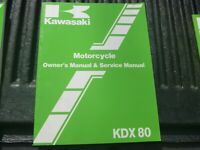 OEM Kawasaki KDX80 KDX80-C3 Owners Manual 99920-1327-01