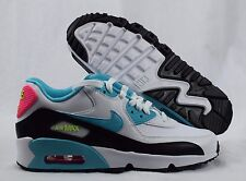 Nike Air Max 90 LTR 833376-104 White Blue Pink Youth GS Girls Shoes Size 7Y