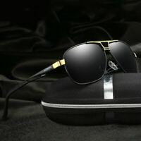 HD Men Polarized Photochromic Sunglasses Pilot Chameleon Driving Outdoor Eyewear