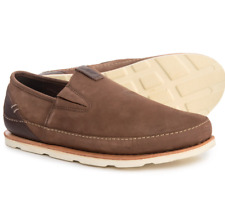 NEW CHACO THOMPSON TAN LEATHER SLIP ON SHOES LOAFERS MENS 11 J106059