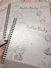 Hello Baby Record Keepsake Book Gift Boy Or Girl 9� X 9� can be personalised