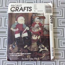 Vintage Christmas Crafts Sewing Pattern 5019 Faye Wine Santa Mrs. Claus Elf Doll