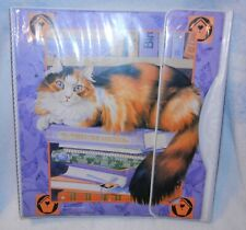 Used Vintage Sophisticats Binder Mead 90s Long Haired Cat on Books