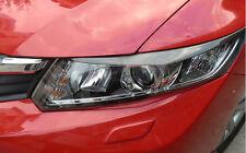 2xFor Honda Civic 9th 2012-14 Carbon Fiber Headlamps Light Brow Decorative Trim