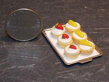 Dollhouse Miniature Cupcakes Fruit Strawberry Cake on Tray B 1:12 scale K40
