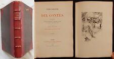 P/ Jules Lemaitre 10 CONTES (Lecène - Oudin) 1890 [relié] / Gravures /
