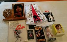 ELVIS PRESLEY LOT OF MEMORABILIA Clock, Stocking, Bobble head, ,etc.