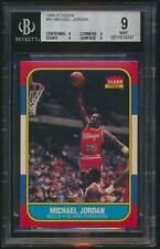 1986 Fleer MICHAEL JORDAN Rookie Chicago Bulls BGS 9 9 9 9