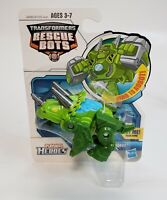 Playskool Transformers Rescue Bots Boulder the Rescue Dinobot Triceratop NEW!