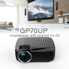 GP70UP HD Projector Wireless BT Android 4.4 Smart Home Cinema WIFI Beamer 1080P