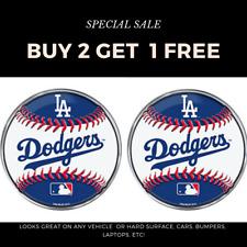 MLB Los Angeles Dodgers Baseball Car, Laptop 3-D Aluminum Color Emblem Decal x 3