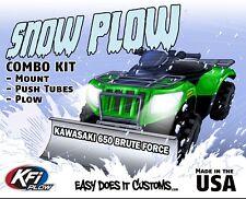 "Kawasaki 650 Brute Force 4x4i - 2006-2013 KFI ATV 54"" Snow Plow Combo Kit"