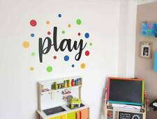 Play wall sticker with coloured dots