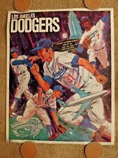 1971 Los Angeles Dodgers Baseball  Lithograph Poster