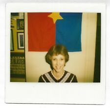 Vintage 80s Kodak Instant PHOTO Young Woman w/ Viet Cong Flag