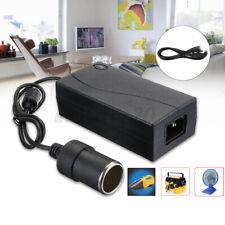 ❤ Car Home Cigarette Lighter Power Supply Adapter 6A 80W DC100V-250V To